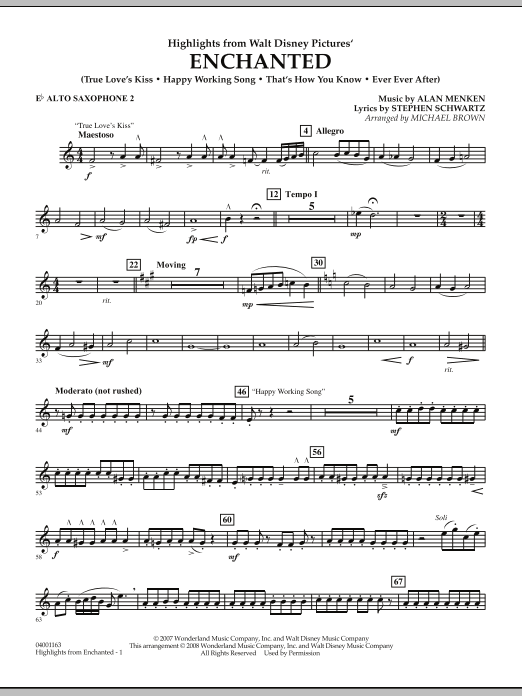 Highlights from Enchanted - Eb Alto Saxophone 2 (Concert Band)
