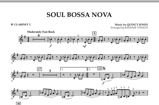 Soul Bossa Nova - Bb Clarinet 2 (Concert Band)