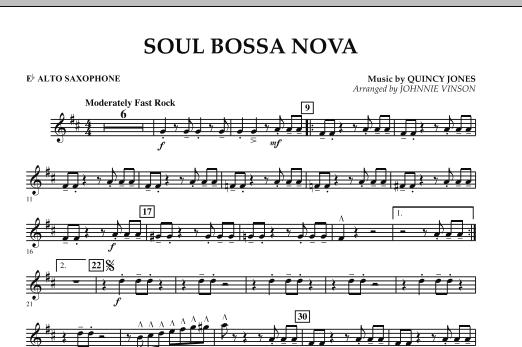 Soul Bossa Nova - Eb Alto Saxophone (Concert Band)