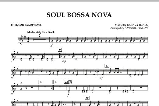 Soul Bossa Nova - Bb Tenor Saxophone (Concert Band)