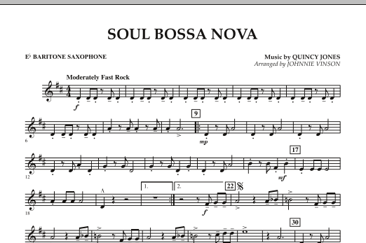 Soul Bossa Nova - Eb Baritone Saxophone (Concert Band)