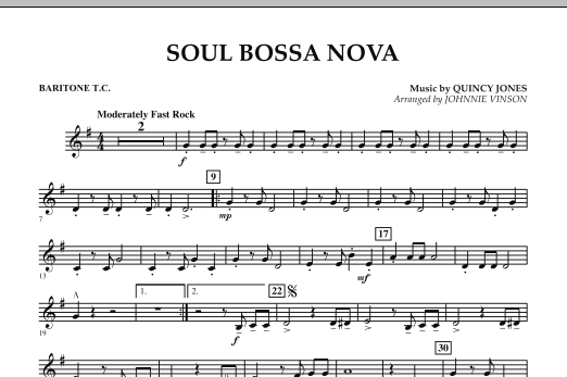 Soul Bossa Nova - Baritone T.C. (Concert Band)