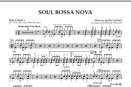 Soul Bossa Nova - Percussion 1 (Concert Band)