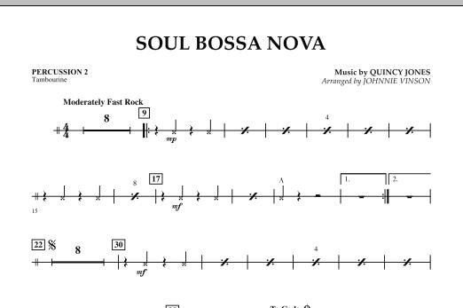 Soul Bossa Nova - Percussion 2 (Concert Band)