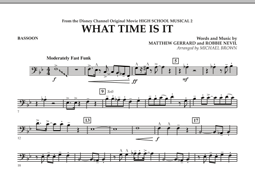 What Time Is It (from High School Musical 2) - Bassoon (Concert Band)