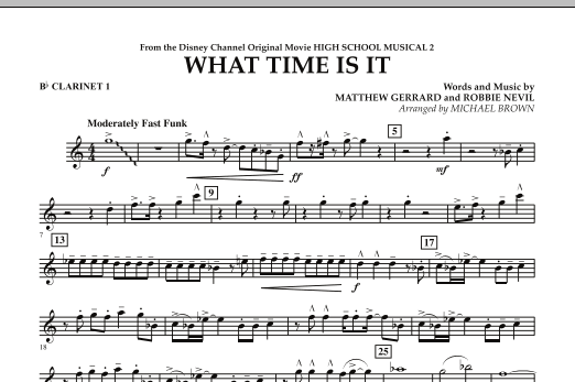 What Time Is It (from High School Musical 2) - Bb Clarinet 1 (Concert Band)