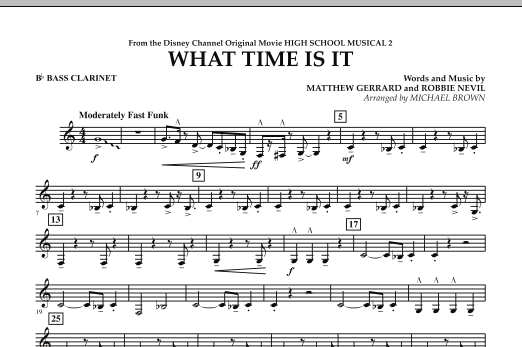 What Time Is It (from High School Musical 2) - Bb Bass Clarinet (Concert Band)