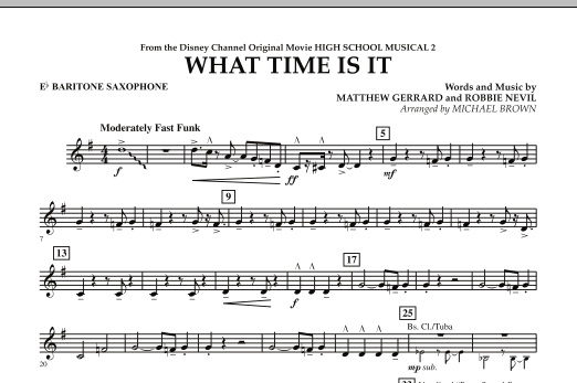 What Time Is It (from High School Musical 2) - Eb Baritone Saxophone (Concert Band)