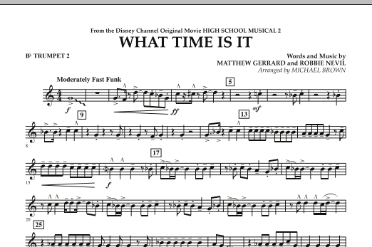 What Time Is It (from High School Musical 2) - Bb Trumpet 2 (Concert Band)