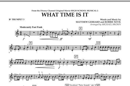 What Time Is It (from High School Musical 2) - Bb Trumpet 3 (Concert Band)