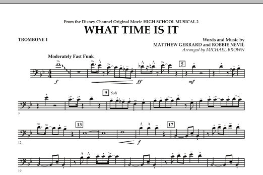 What Time Is It (from High School Musical 2) - Trombone 1 (Concert Band)