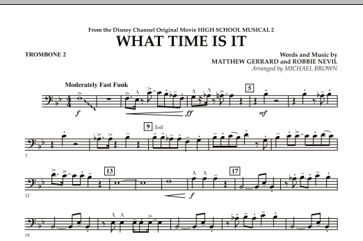 What Time Is It (from High School Musical 2) - Trombone 2 (Concert Band)