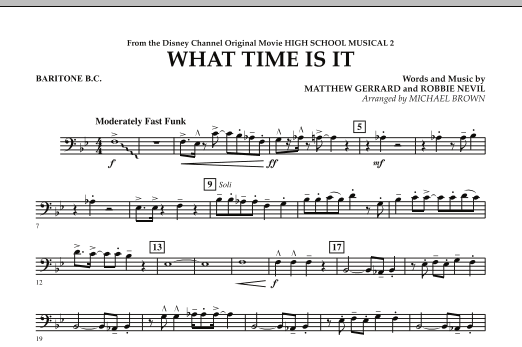What Time Is It (from High School Musical 2) - Baritone B.C. (Concert Band)