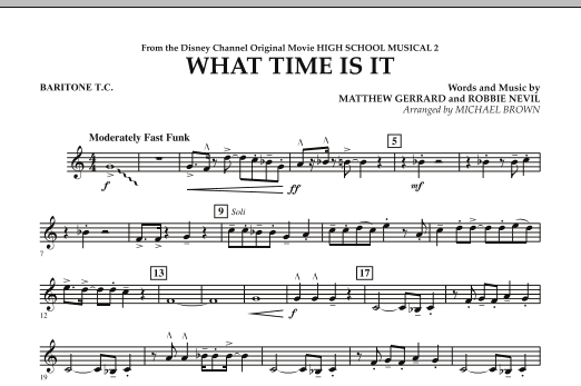 What Time Is It (from High School Musical 2) - Baritone T.C. (Concert Band)