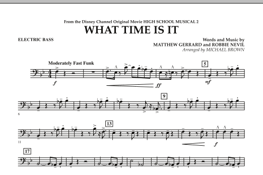What Time Is It (from High School Musical 2) - Electric Bass (Concert Band)