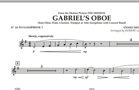 Gabriel's Oboe (from The Mission) - Eb Alto Saxophone 1 (Concert Band)