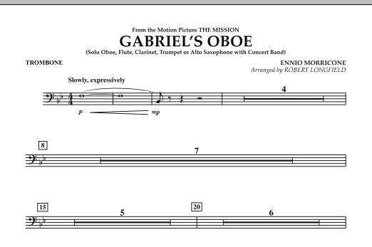 Gabriel's Oboe (from The Mission) - Trombone (Concert Band)