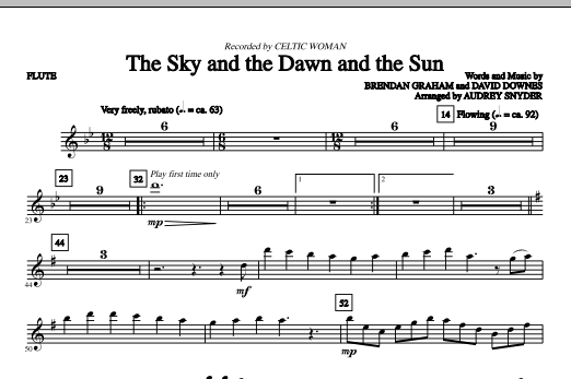 The Sky And The Dawn And The Sun (complete set of parts) sheet music for orchestra/band (Strings) by Audrey Snyder, Brendan Graham, Celtic Woman and David Downes. Score Image Preview.
