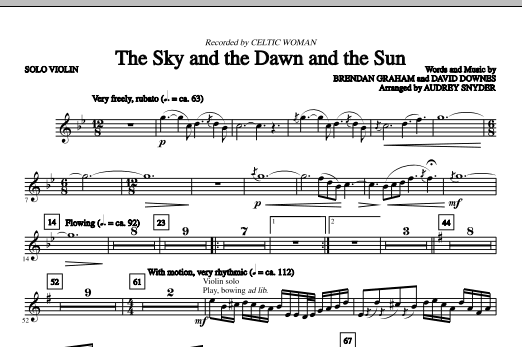 The Sky And The Dawn And The Sun - Solo Violin (Choir Instrumental Pak)