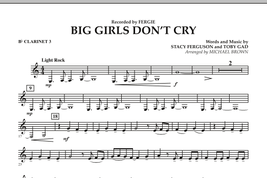 Big Girls Don't Cry - Bb Clarinet 3 (Concert Band)