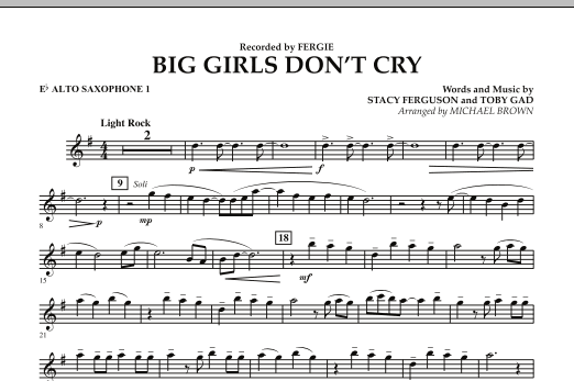 Big Girls Don't Cry - Eb Alto Saxophone 1 (Concert Band)