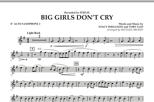 Big Girls Don't Cry - Eb Alto Saxophone 2 (Concert Band)