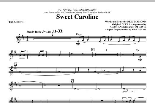 Sweet Caroline - Trumpet 2 Sheet Music