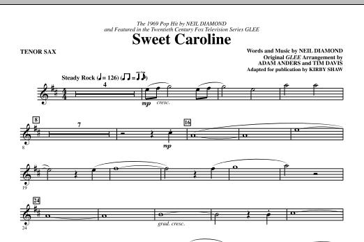 Sweet Caroline (Ed. Kirby Shaw) - Tenor Sax (Choir Instrumental Pak)
