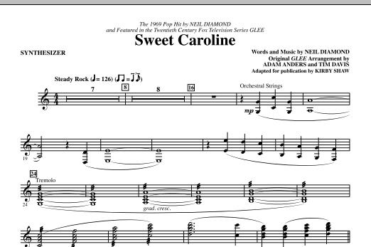 Sweet Caroline (Ed. Kirby Shaw) - Synthesizer (Choir Instrumental Pak)