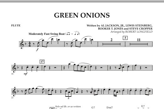 Green Onions - Flute (Concert Band)