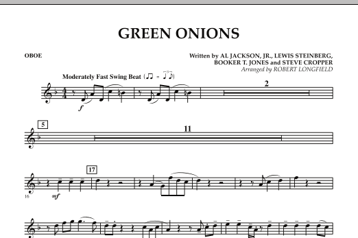 Green Onions - Oboe (Concert Band)