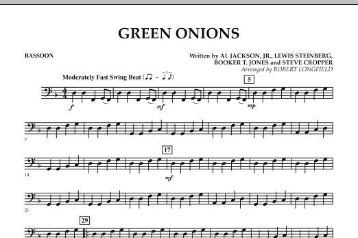 Green Onions - Bassoon (Concert Band)