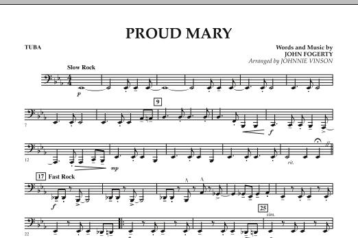 Proud Mary - Tuba by John Fogerty, Ike & Tina Turner, Johnnie Vinson ...