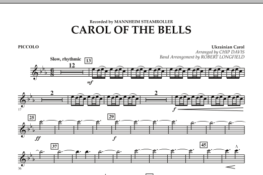 Carol Of The Bells - Piccolo (Concert Band)