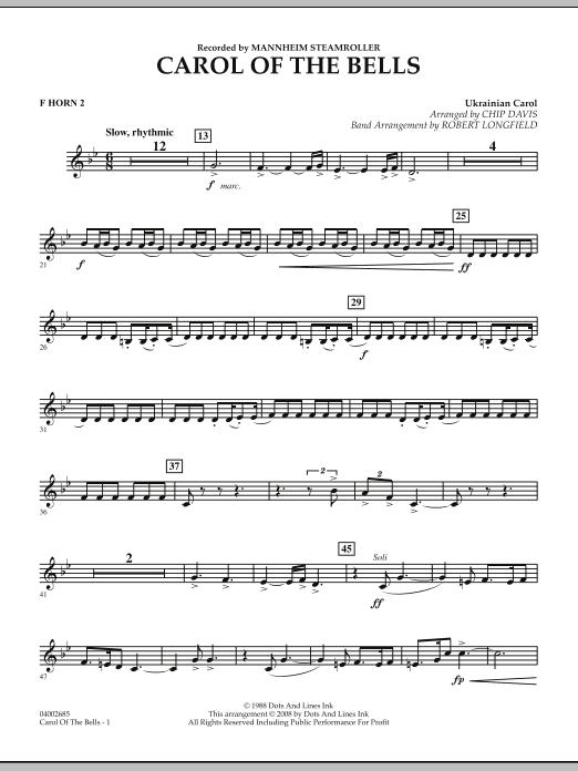 Carol Of The Bells - F Horn 2 (Concert Band)