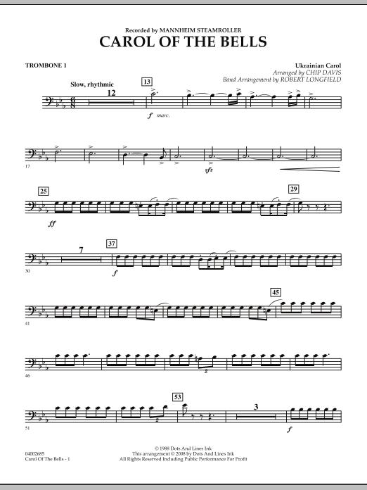 Carol Of The Bells - Trombone 1 (Concert Band)