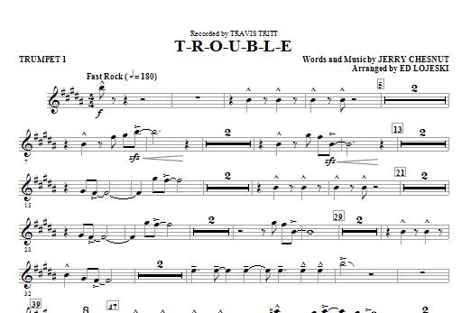 T-R-O-U-B-L-E - Trumpet 1 Sheet Music