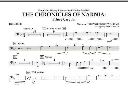 The Chronicles Of Narnia: Prince Caspian - Trombone (Concert Band)