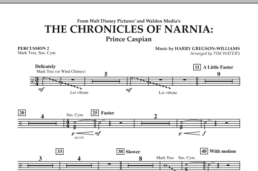 The Chronicles Of Narnia: Prince Caspian - Percussion 2 (Concert Band)