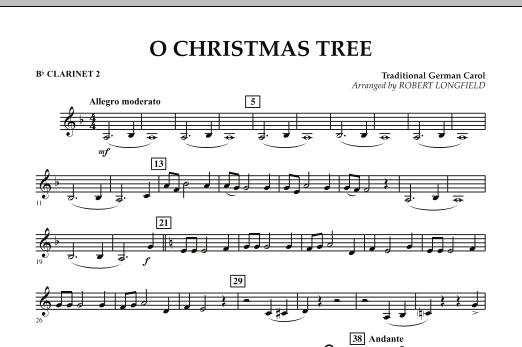 O Christmas Tree - Bb Clarinet 2 (Concert Band)