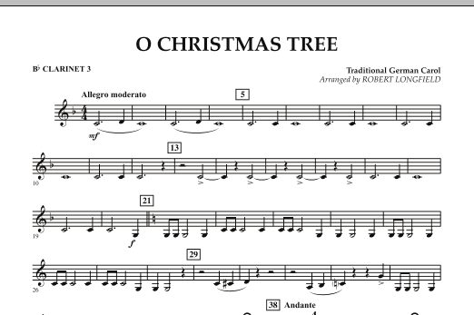 O Christmas Tree - Bb Clarinet 3 (Concert Band)