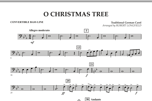 O Christmas Tree - Convertible Bass Line (Concert Band)