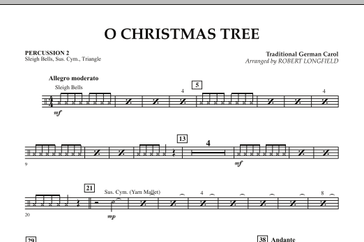O Christmas Tree - Percussion 2 (Concert Band)