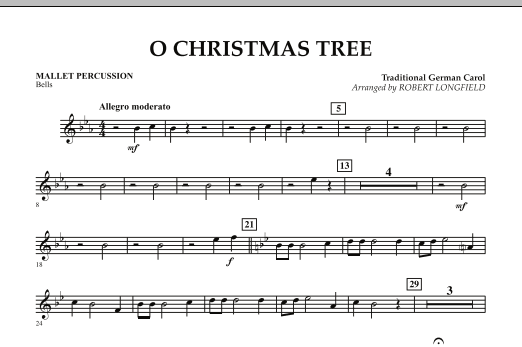 page one of O Christmas Tree - Mallet PercussionASALTTEXT