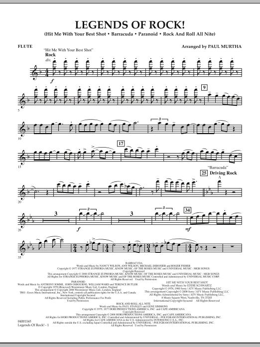 Legends Of Rock! - Flute (Concert Band)