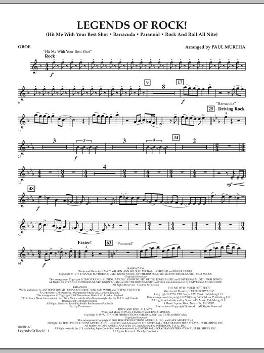Legends Of Rock! - Oboe (Concert Band)