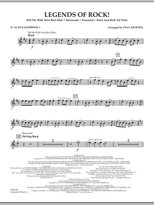 Legends Of Rock! - Eb Alto Saxophone 1 (Concert Band)