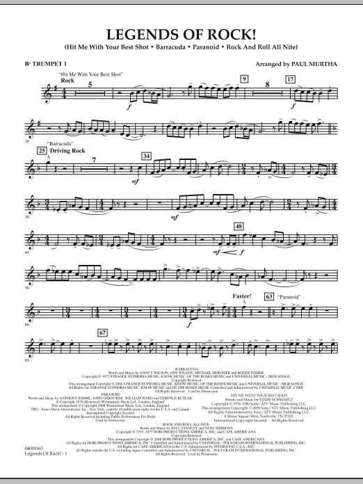 Legends Of Rock! - Bb Trumpet 1 (Concert Band)