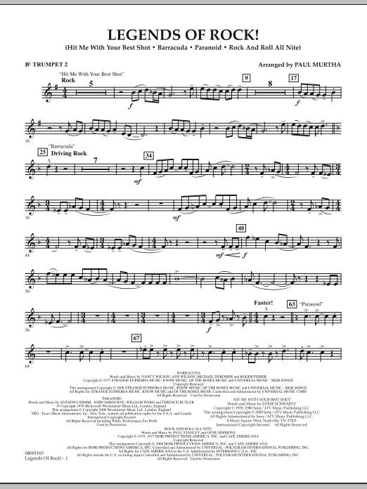 Legends Of Rock! - Bb Trumpet 2 (Concert Band)