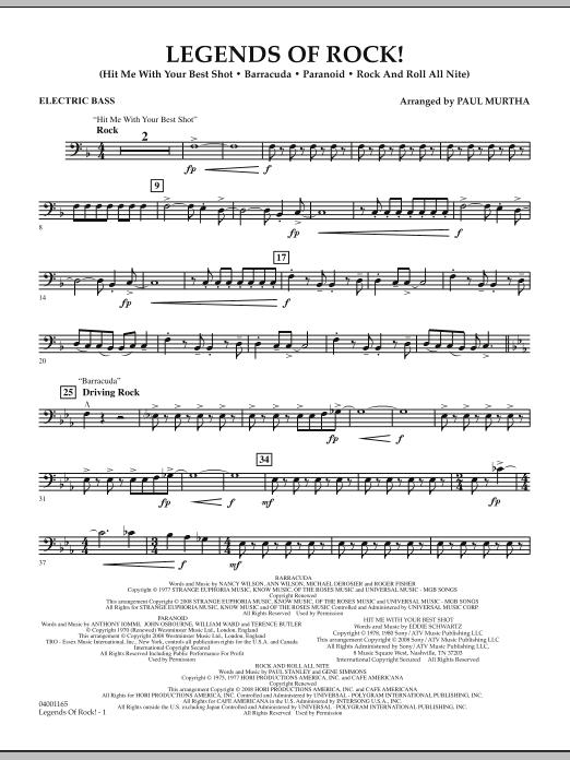 Legends Of Rock! - Electric Bass (Concert Band)